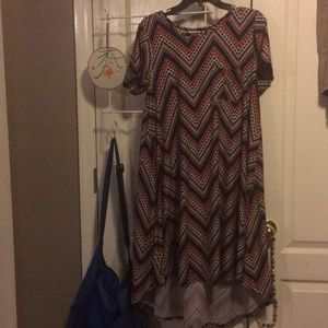 Women's Medium Black Chevron Carly Dress